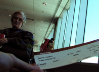 mum and the plane ticket